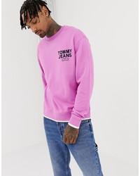 Sudadera estampada rosada de Tommy Jeans