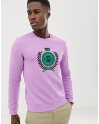 Sudadera estampada violeta claro de Scotch & Soda