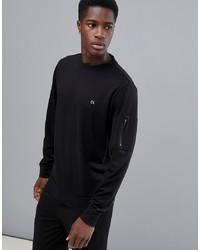 Sudadera negra de Calvin Klein Performance