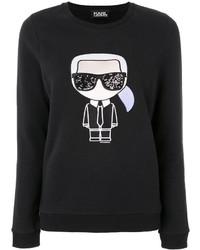 Sudadera negra de Karl Lagerfeld