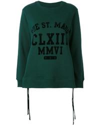 Sudadera verde oscuro de MM6 MAISON MARGIELA