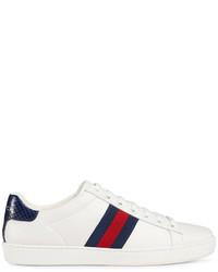 Tenis blancos de Gucci