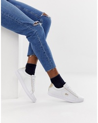 Tenis blancos de Lacoste