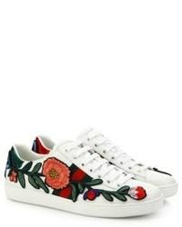 Tenis con print de flores Blancos de Gucci