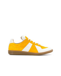 Tenis de ante amarillos de Maison Margiela