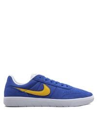 Tenis de ante azules de Nike