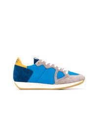 Tenis de ante azules de Philippe Model
