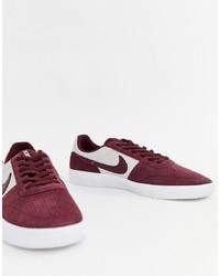 Tenis de ante burdeos de Nike SB