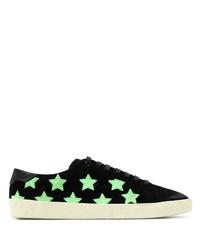 Tenis de ante de estrellas negros de Saint Laurent