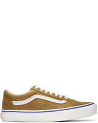 Tenis de ante de rayas horizontales marrónes de Vans