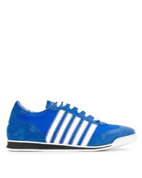 Tenis de ante estampados azules de DSQUARED2