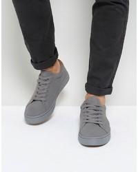 Tenis de ante grises de ASOS DESIGN