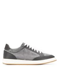 Tenis de ante grises de Brunello Cucinelli