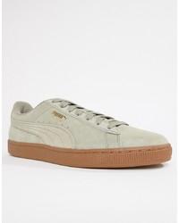 Tenis de ante grises de Puma