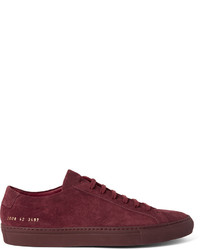 Tenis de ante morado oscuro de Common Projects