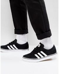 Tenis de ante negros de Adidas Skateboarding