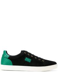 Tenis de ante negros de Dolce & Gabbana