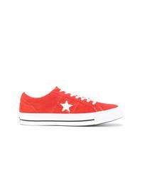 Tenis de ante rojos de Converse