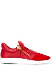 Tenis de ante rojos de Giuseppe Zanotti Design