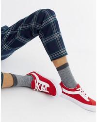 Tenis de ante rojos de Vans