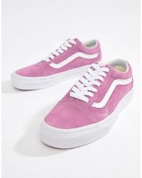 Tenis de ante rosa de Vans