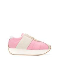 Tenis de ante rosados de Marni