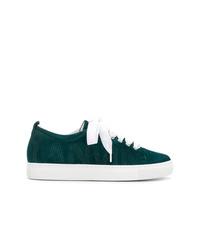 Tenis de ante verde oscuro de Lanvin