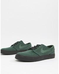 Tenis de ante verde oscuro de Nike SB