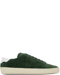 Tenis de ante verde oscuro de Saint Laurent