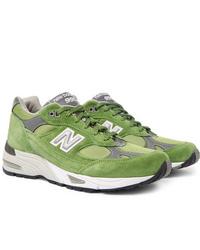 Tenis de ante verdes de New Balance