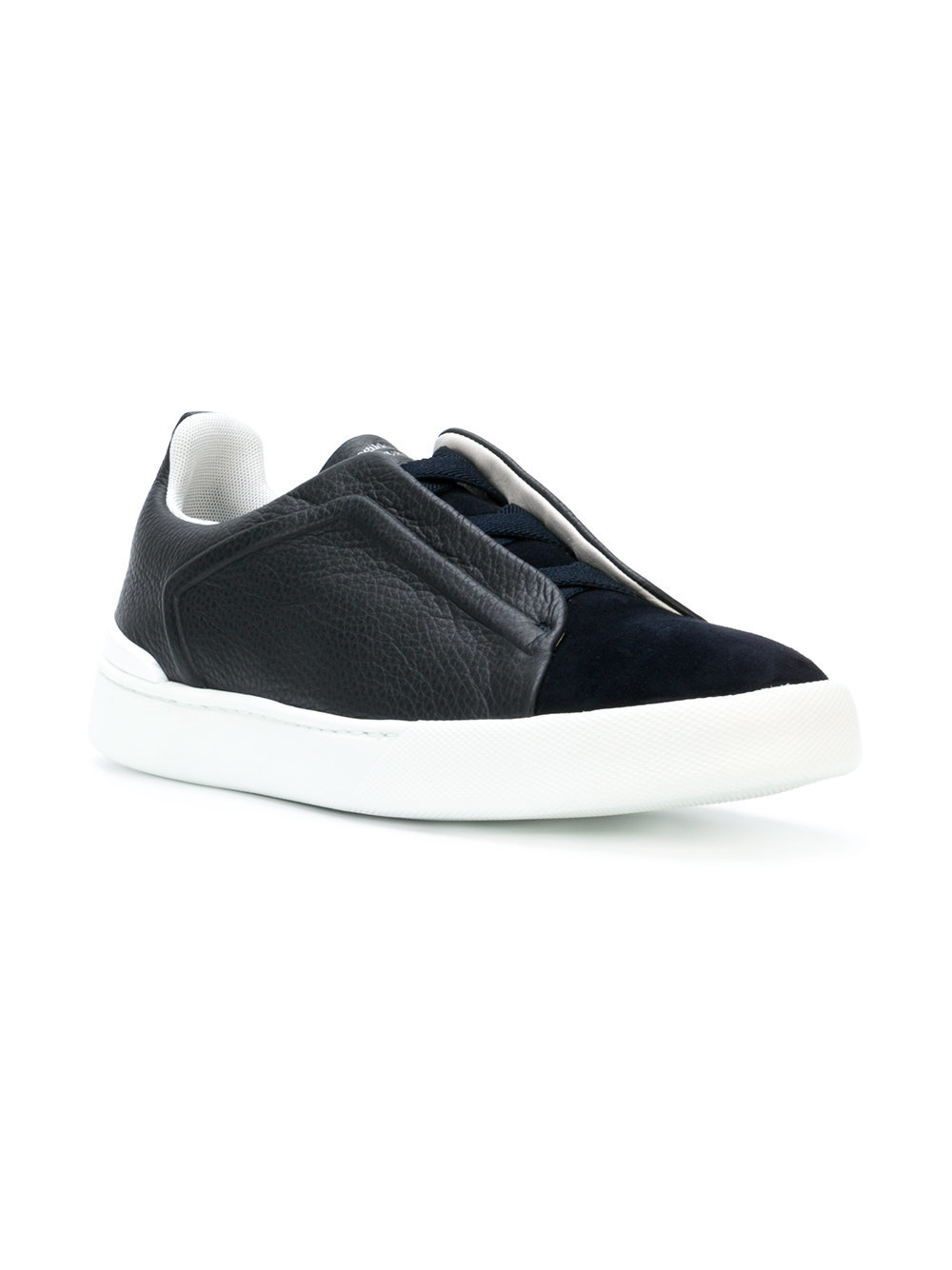 Ermenegildo diseño Zegna zapatillas slipon con diseño Ermenegildo tejido Negro farfetch 7cf348