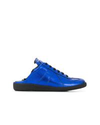 Tenis de cuero azules de Maison Margiela