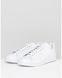 Tenis de cuero blancos de adidas Originals
