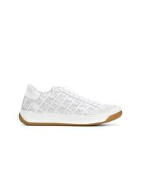 Tenis de cuero blancos de Burberry