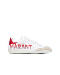 Tenis de cuero blancos de Isabel Marant