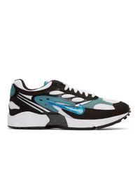 Tenis de cuero bordados negros de Nike