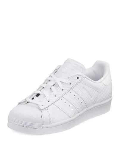 100% authentic 63f9f 1cd0f ... Tenis de cuero con print de serpiente blancos de adidas