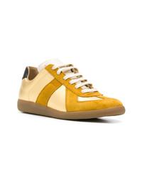 Tenis de cuero dorados de Maison Margiela