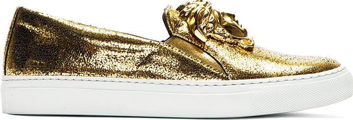 Versace Zapatos Dorados