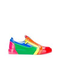 Tenis de cuero en multicolor de Giuseppe Zanotti Design