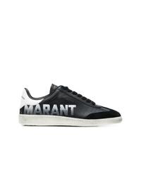 Tenis de cuero en negro y blanco de Isabel Marant