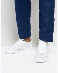 Tenis de cuero estampados blancos de Reebok