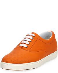 Tenis de cuero naranjas