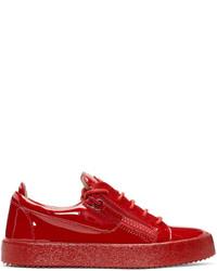 Tenis de cuero rojos de Giuseppe Zanotti