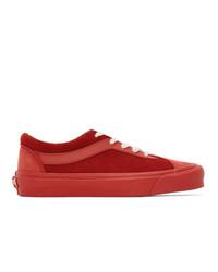 Tenis de cuero rojos de Vans