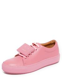 Tenis de cuero rosados de Acne Studios