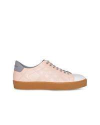 Tenis de cuero rosados de Burberry