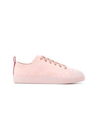 Tenis de cuero rosados de Moncler