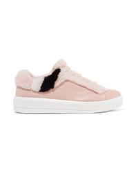 Tenis de cuero rosados de Prada