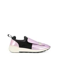 Tenis de cuero rosados de Sergio Rossi